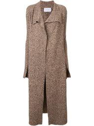melange drape front coat Scanlan Theodore
