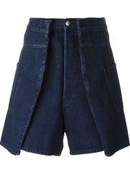 double width denim shorts Christopher Shannon