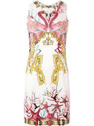 flamingo print dress Versace Collection