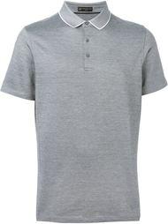 футболка-поло с контрастным воротником   Corneliani