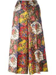patchwork floral print palazzo pants Alberto Biani