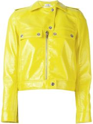 button and zip up biker jacket Courrèges