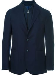 textured double collared sport jacket Corneliani