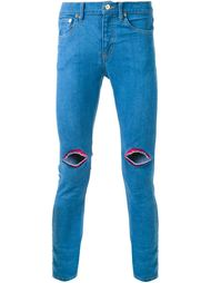 джинсы кроя скинни  с вышивкой  DressCamp