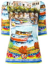 Carretto Siciliano print top Dolce & Gabbana