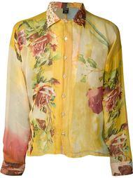 рубашка с принтом роз Jean Paul Gaultier Vintage