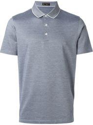 футболка-поло с контрастной окантовкой  Corneliani