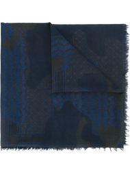 patchwork print scarf Neil Barrett