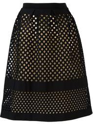 юбка с резным узором Fendi