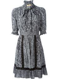 paisley print ruffled dress Fay