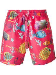 плавательные шорты с принтом рыб Vilebrequin