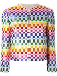 woven ribbon jacket Roberto Capucci