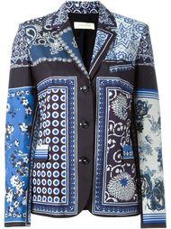 scarf print blazer Wunderkind