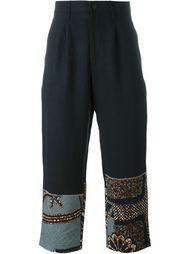 укороченные брюки с контрастными панелями Junya Watanabe Comme Des Garçons Man