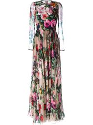 rose print gown Dolce & Gabbana