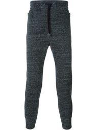 меланжевые спортивные брюки Helmut Lang
