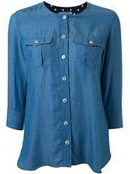 denim effect button down shirt Guild Prime