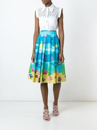 sea print pleated skirt  Ultràchic