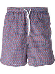 dot print swim shorts Kiton
