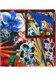 tattoo print scarf Dsquared2
