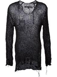 v-neck ribknit sweater Cedric Jacquemyn