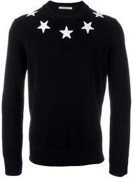 свитер с нашивками-звездами Givenchy