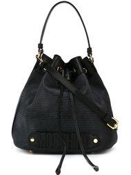 сумка-мешок с золотистой фурнитурой Moschino