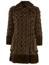 пальто с плетеным дизайном Fendi