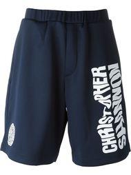 спортивные шорты с принтом логотипа Christopher Shannon