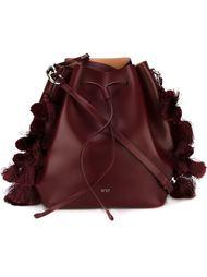 сумка-мешок с помпонами и кисточками Nº21