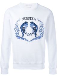 bird embroidered sweatshirt Alexander McQueen