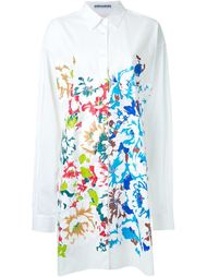 front print long shirt Mikio Sakabe
