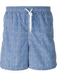 arabesque print swim shorts Kiton
