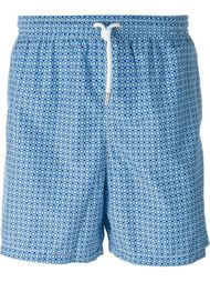 geometric print swim shorts Kiton