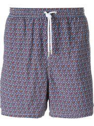 плавательные шорты с геометрическим принтом Kiton