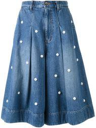 декорированная джинсовая юбка  Muveil