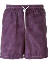 плавательные шорты с геометрическим узором Kiton