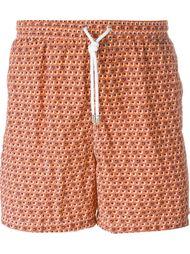 circle print swim shorts Kiton