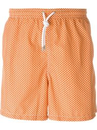 snowflake print swim shorts Kiton