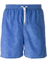 denim effect swim shorts Kiton