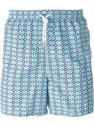 плавательные шорты с мелким узором Kiton