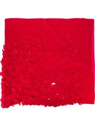 шарф с резным узором Maria Calderara