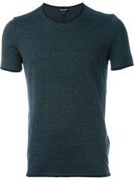 приталенная футболка с контрастной окантовкой Giorgio Armani