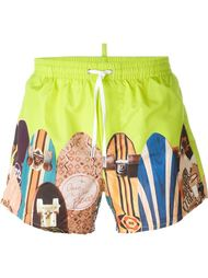 skateboards print swim shorts Dsquared2 Beachwear