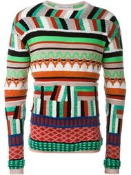 zig-zag knit sweater James Long