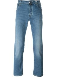 stretch fabric straight leg jeans Jacob Cohen