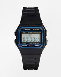 Классические цифровые часы Casio F-91W-1XY - Черный