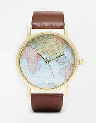 Часы с принтом карты Reclaimed Vintage - Коричневый