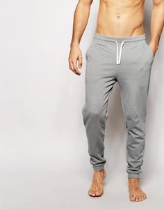 Спортивные штаны слим для дома ASOS - Серый меланж