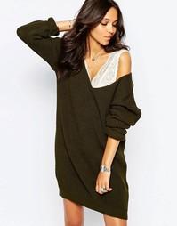 Платье джемпер Boohoo - Зеленый хаки